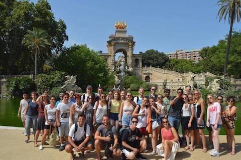 les étudiants au parc de la Ciutadella